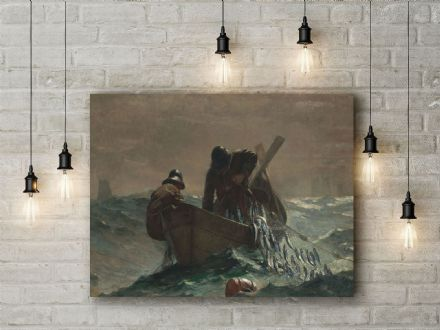Winslow Homer: The Herring Net. Fine Art Canvas.